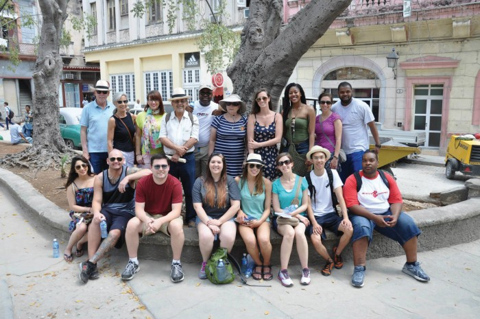 Hull College of Business students in Cuba