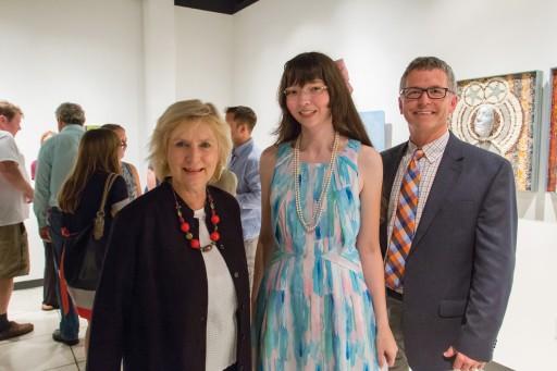 Mary S. Byrd, Susanna Bondar and Scott Thorpe (Art Department chair)