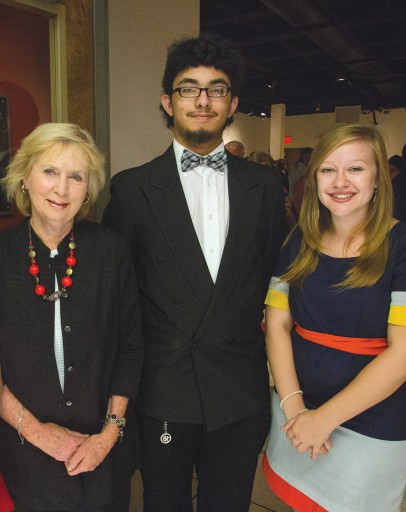 Mary S. Byrd, Almedias Serrano and Melissa Sommers (2014 Study Abroad Scholarship recipient)