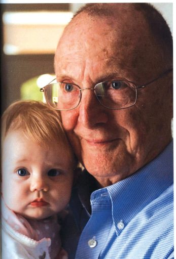 Dr. David Pashley with his youngest granddaughter, Smanatha Pashley