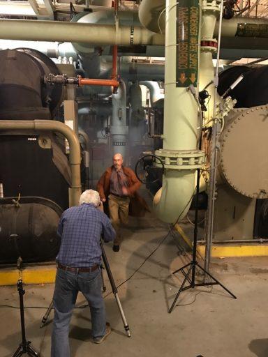 Phil Jones photographs Dr. Brian Armstrong.