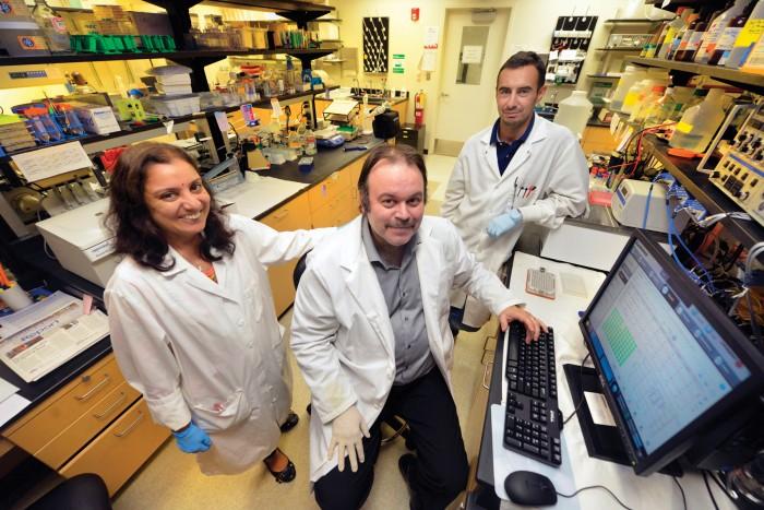 Drs. Supriya Sridhar (from left), Rudolf Lucas, and Istvan Czikora