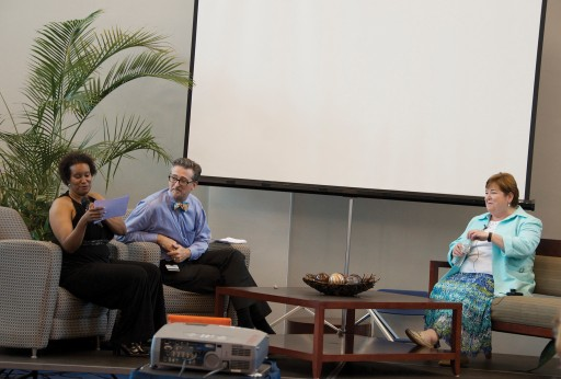 Stephanie Perry and Michael Budd with Carol A. Lefebrve.