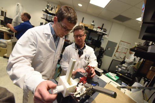 Student Brian Jock and Dr. Alan Furness