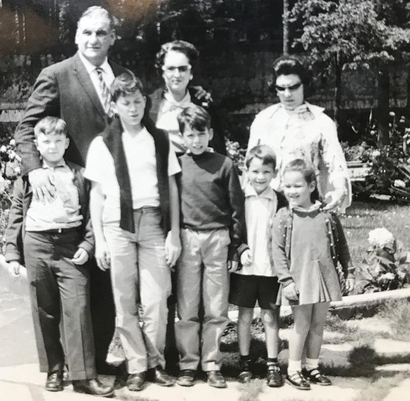 A young Pena (left) soon after moving to the United States