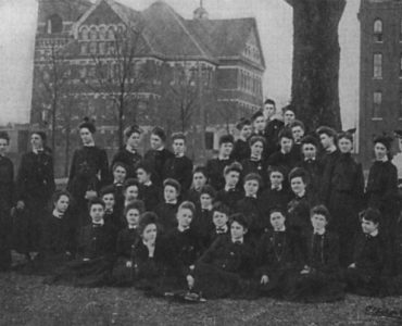 Julia Flisch with students at the all-female Georgia Normal and Industrial College that she helped found in 1890.