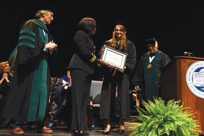 Dr. Anna Sulimirski, a 2017 MCG graduate, is a winner of the United States Public Health Service's 2017 Excellence in Public Health Award.