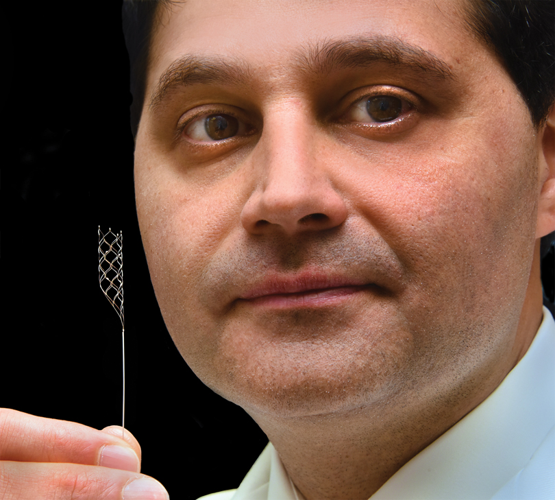 Dr. Scott Y. Rahimi with the stent retriever