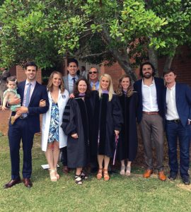 Dr. Robin Reich with extended family at daughter Stacey Reich Wingad's DCG hooding ceremony