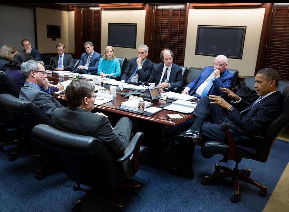 Peter Swire with President Barack Obama and the NRA Review Committee