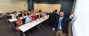 William Hatcher teaches an MPA class.