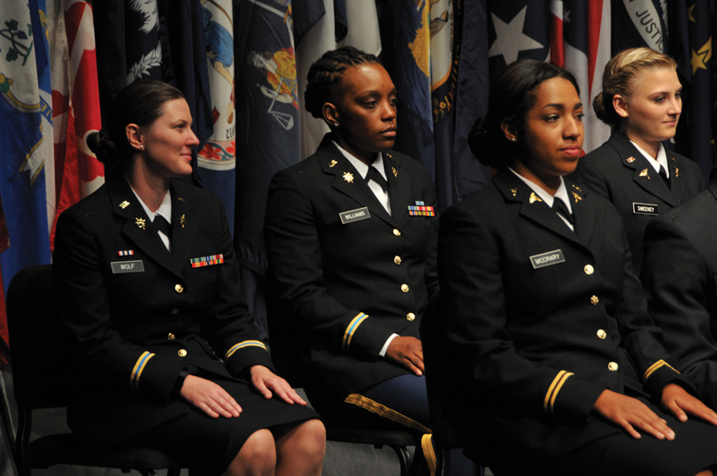 Kayla Williams (BS, '18) sits second from left.