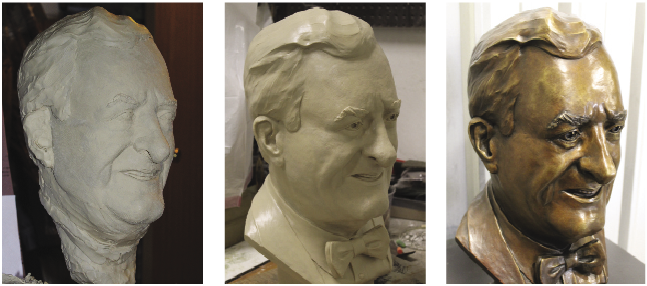 Harrison bust progress