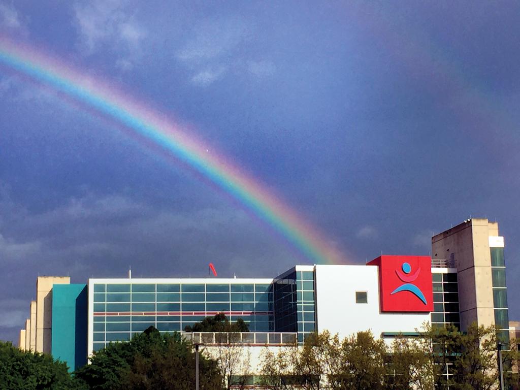 Rainbow over CHOG .Photo by Susane Dickson