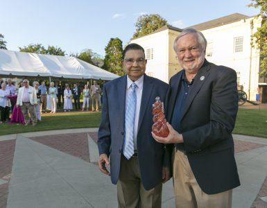 Dr. Virendra B. Mahesh and President Brooks Keel