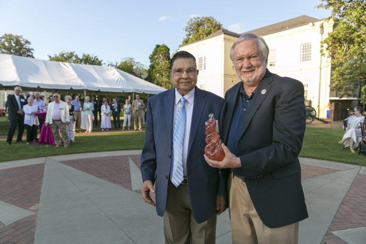 Dr. Virendra B. Mahesh and President Brooks Keel
