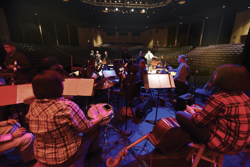 The Jailbird Band during rehearsal at the Maxwell Theatre
