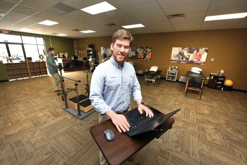 Trey Wimmer (DPT, '18) proposed a project that became BenchMark Physical Therapy in Grovetown, Georgia.