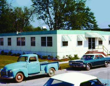 Trailer with old cars