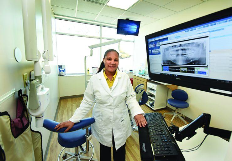 Dentist looking at the camera