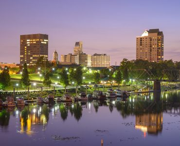 Skyline of Augusta's waterfront
