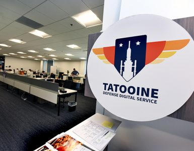 Office sign that says Tatooine, Defense Digital Service