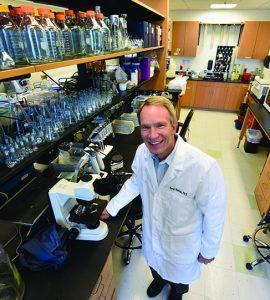 Dr. David Mattson in lab