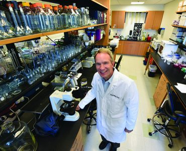 Dr. David Mattson in lab