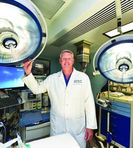 Dr. Chadburn Ray looking at camera