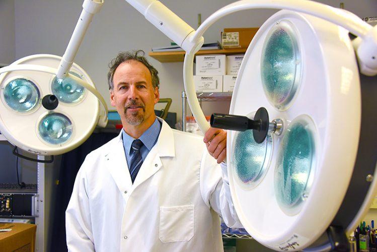 Dr. David Fulton in lab