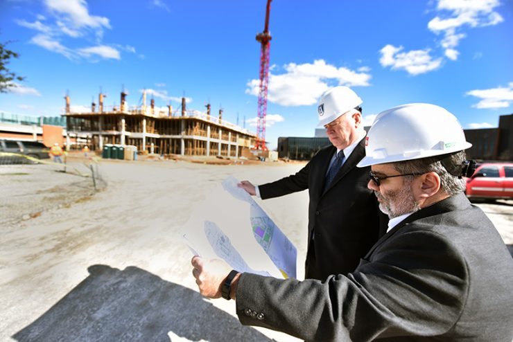 Ron Booth and Diego Vazquez at construction site
