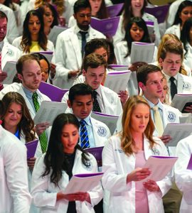 Dental Students at White Coat Ceremony