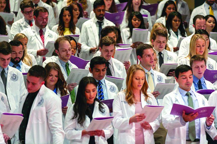 Dental Students at White Coat Ceremony