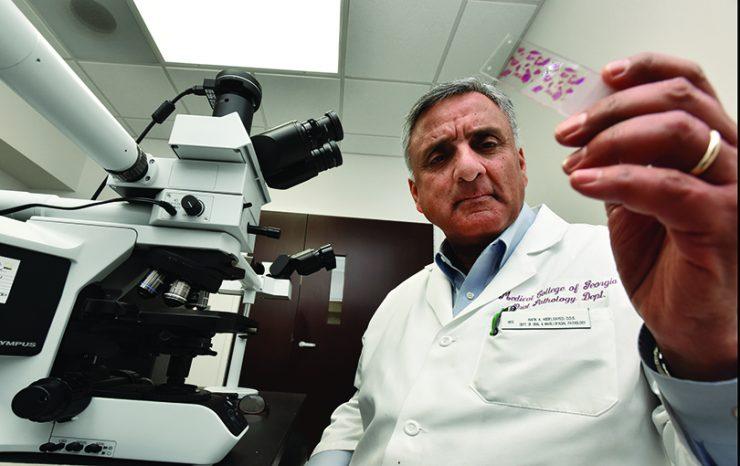 Dr. Rafik Abdelsayed in lab