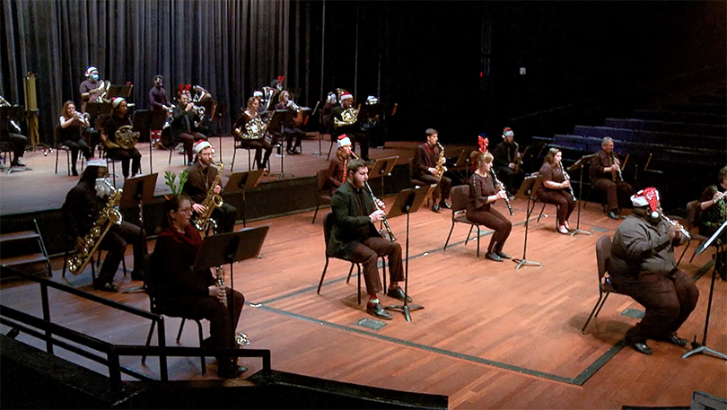 Social distanced band concert