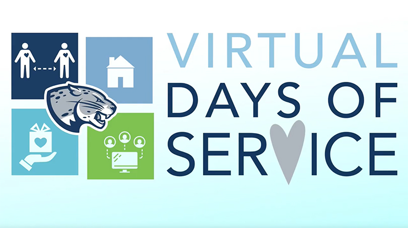 """sign reading """"Virtual Days of Service"""""""