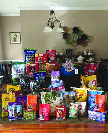 Donated pet food