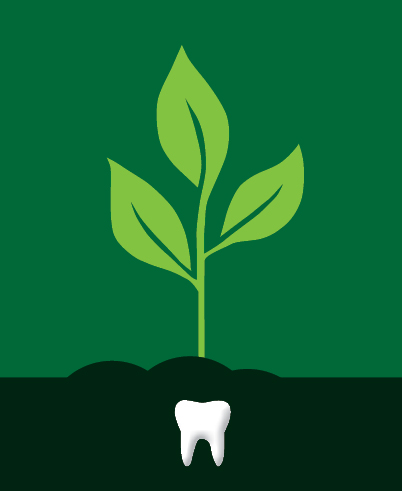 Plant and tooth graphic