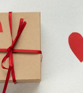 Gift and paper heart