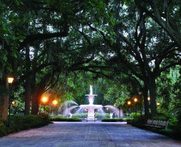 Forsyth park in Savannah Georgia