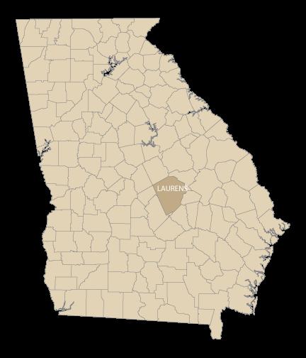drawn map of Georgia, USA
