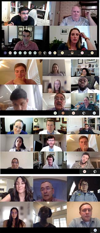pictures of various zoom meetings